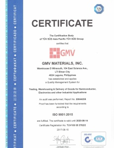 GMV Mat ISO Cert10092017