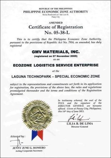 PEZA_Certificate